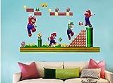 Combinaison Super Mario Bros Amovible Stickers muraux Decal Décoration pour la maison des enfants