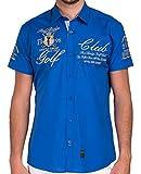 Redbridge by Cipo & Baxx Herren Hemd Freizeithemd Golf Club Regular Fit mit Stickerei (XXL, Saxe Blau)