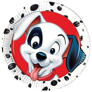 23cm Disney 101 Dalmatians Party Plates, Pack of 8