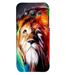 ColourCraft Lion Look Design Back Case Cover for SAMSUNG GALAXY J2 J200G