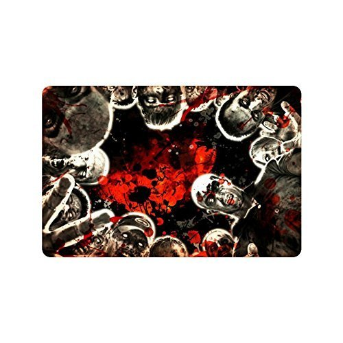 Vidmkeo Zombie Non-Woven Fabric Top Doormat,Indoor/Outdoor Floor Mat 31.5x19.5Inch