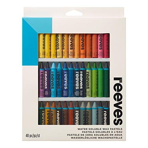 Reeves matite a cera acquarellabile assortimento da 48 matite