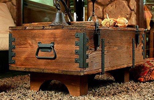 Propio diseño antiguo viaje Trunk mesa de café Cottage - Manta de es