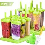 Akrcheft Eisformen, 12Kunststoff Eisformen Popsicle Formen Set, EIS Pop Macher,...