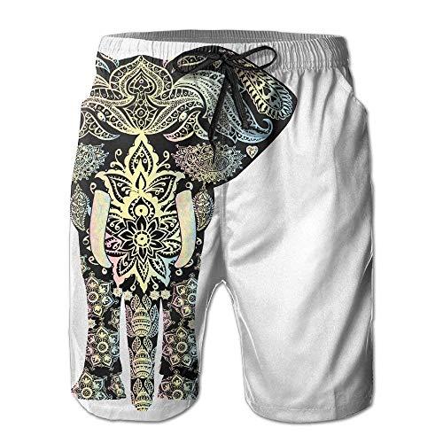 Bensontop Pantalones Cortos de Playa con Estampado de Elefante y Estampado de...
