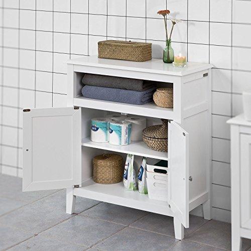 confronta il prezzo SoBuy® Mobiletto base per bagno o Ingresso, credenza, con due ante, FRG204-W,IT miglior prezzo