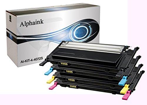 alphaink ai kit 4–4072S Kit 4Toner Reciclado para Samsung clp320 n clp325 n clp325 w clx3185 n clx3185F w CLX 3180CLX 3185CLX 3185FN CLX 3185W