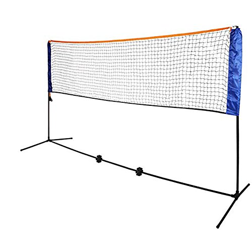 CHSSOOD Tragbare Faltbare Badminton-Tennis Netzhöhe Verstellbar Mit Stand 4,2 M