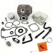 HURI Zylinder und Kolben Kit Luftfilter Dichtsatz Simmerringe Zündkerze passend für Stihl MS260 026 Motorsäge 44mm Ersetzt 1121 020 1208,1121 020 1203
