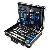 Ferrestock FSKJH176 Maletín profesional de aluminio reforzado con juego de herramientas, 176 piezas