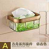 STAZSX Bagno scatole carta di rame antico asciugamano cestello Lou rack, carta asciugamano bagno sanitari, asciugamani di carta antica