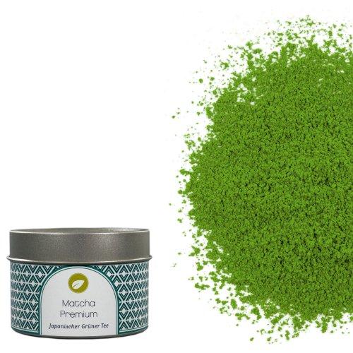tea exclusive - Matcha Premium aus Uji, Dose 20g (Mokka-grüner Tee)