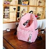 FELICIOO modischer Rucksack mit großer Kapazität, süßer Rucksack, mit Katzenmotiv, Kaninchenohren, für Schule, Studenten, Schule, Pendler, leichte Tasche, Rose, Large