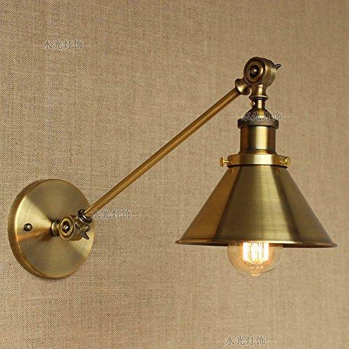 Pointhx Industrielle Metall Wandleuchte Leuchtet Tapered Lampenschirm Indoor Einstellbare Vintage Eisen Swing Arm Wandleuchte Leuchten Schlafzimmer Arbeitszimmer Wandleuchte