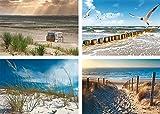 Artland Qualitätsbilder I Poster Set Strand Kunstdruck