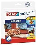 Tesa 05395-00101 - Burlete de caucho perfil P, 10 m x 9 mm, color marrón