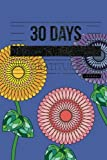 30 Days of Gratitude Journal: Blue 30 Day Thanksgiving & Gratitude Motivational Quotes Notebook for you to Reflect & Be Thankful | Paperback 6