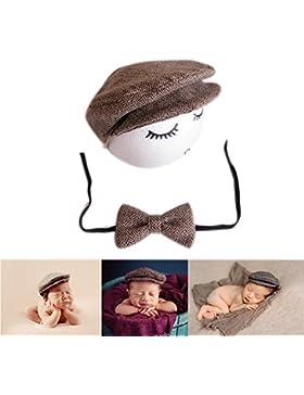 Neugeborene Baby Fotografie Foto Stützen Junge Mädchen Kostüme Outfits Kleidung Niedlichen Hut