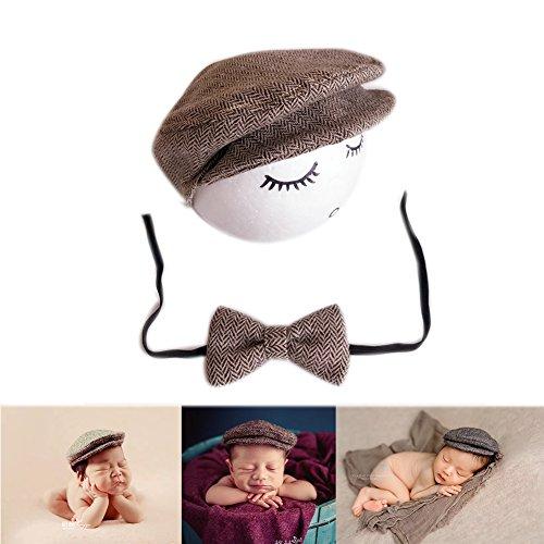Neugeborene Baby Fotografie Foto Stützen Junge Mädchen Kostüme Outfits Kleidung Niedlichen Hut (Coffee) (Passende Kostüme Für Jungen Und Mädchen)