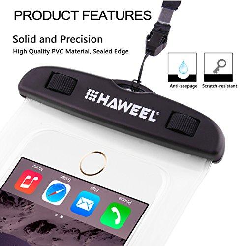 Wasserdichtes Case, HAWEEL ® transparenter Universal Wasserdichte Tasche mit Lanyard für das iPhone 6 & 6 Plus / 6 s & 6 s Plus, Samsung Galaxy S6 / S5 / Note 5, Rosa Transparent