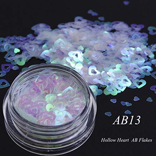 KHKJ AB Chameleon Color Sequins Nail Art Glitter Flakes UV Gel Polish Star Heart Flower Paillette Decor Tools CHAB01-15