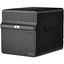 Synology DiskStation DS416j - Dispositivo de almacenamiento en red NAS (Marvell Armada 388 88F6828, 4 bahías, 512 MB RAM, USB 3.0, SATA II/III, Gigabit), negro