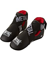 Metal Boxe Protège-pieds Noir/Rouge Taille S