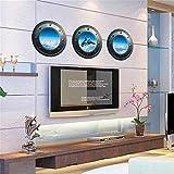 RUNDESHEBEI Y&M Etiquetas engomadas de la Pared 3D, Etiquetas engomadas de la Pared del PVC 33CM * 33CM * 3PCS