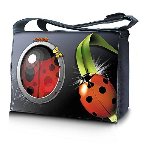 4d0d86114a Luxburg® design sac en bandoulière sacoche sac collège daily bag 15,6  pouces, motif: Coccinelles grandes
