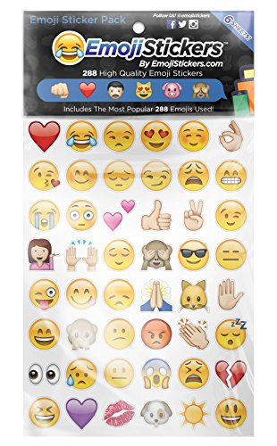 Boxer Emoji adhesivo (Pack de 6hojas)