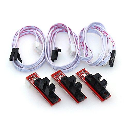 BIQU Heatbed MK2B Mechanische Switch ohne Riemenscheibe Rad für 3D Drucker RAMPS 1.4 (Pack von 3 x) (Mechanische Endschalter)