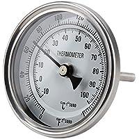ferroday termómetro de acero inoxidable con bloqueo Tuerca Arandela plana junta tórica 0–220° cerveza casera eléctrica