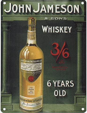 JOHN JAMESON & SONS WHISKY Metal Advertising Sign (SMALL 200mm X 150mm)