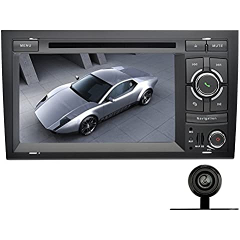YINUO 7 Pulgada Android 5.1.1 Lollipop Quad Core 2 Din HD 1024*600 Autoradio Reproductor De DVD GPS Navigation Para Audi A4 ( 2002-2008) Soporte DAB / Control Del Volante Bluetooth / AV-IN / 1080p Incluida Lá Cámara De Marcha
