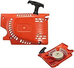 HITSAN INCORPORATION Recoil Pull Start Starter Red for Chinese Chain Saw 4500 5200 5800 45cc 52cc 58cc
