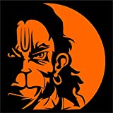 Idesigns Orange Center Hanuman Face For Car, Scooters
