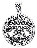 Alterras - Anhänger: Druiden Pentagramm aus 925-Silber