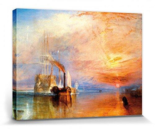1art1 54716 Joseph William Turner - Die Kämpfende Temeraire, 1839 Poster Leinwandbild Auf Keilrahmen 80 x 60 cm
