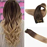 Easyouth Clip in Menschliches Haar 18 Zoll 100g 7 Stück Pro Paket Farbe 4 Mittelbraun Verblassen Bis 27 Honig Blonde Clip in Hair Extensions Clip in Natural Hair