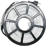 COSYLUX® LED Lichterschlauch 10m mit 240 LEDs kaltweiß, TÜV geprüft, Timer, IP44 wasserdicht, für Innen- und Außenbereich, Balkon Weihnachten Hochzeit