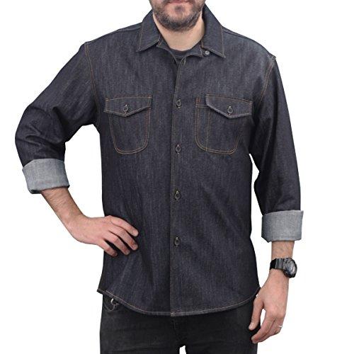 ASD Living LS-274 Wait Staff Server Shirt, Indigo, Small -