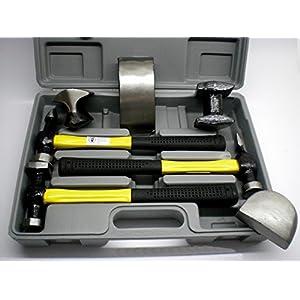 Ausbeulset Ausbeulsatz Ausbeulhammer Karosserie Werkzeug Hammer Dellen Beulen K