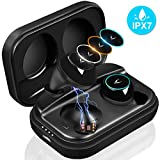 MYCARBON Bluetooth Kopfhörer in Ear Kabellos Kopfhörer V5.0 True Wireless Kopfhörer Sport IPX7 Wasserdicht Bluetooth Headset mit Mikrofon, 3Farblicht, Ladebox, für iPhone, Android, Samsung, ipad usw.