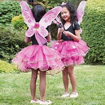 Girls Kids Sugar Plum Fairy Butterfly Princess Fancy Dress Costume - Tutu Skirt, Wand & Wings Set 3 Years + by (Plum Kostüme Kinder)