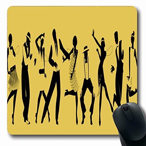 Luancrop Mousepads Tänzer Neun Tanzen Charleston Gatsby Sport Erholung Speakeasy Jazz Broadway Design Junge rutschfeste Gaming-Mausunterlage Gummi-Matte