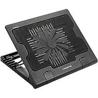 Tacens 4ABACUS - Base de refrigeración para portátil (ventilador de 18 cm, 17 pulgadas, 2 puertos USB 2.0, ergonómico) color negro