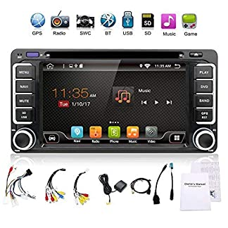Upgrade-Version-mit-Kamera-WiFi-Modell-177-cm-Android-60-Quad-Core-Auto-DVD-Navigation-GPS-Stereo-fr-Toyota-Auto-fr-die-3-G-WiFi-HotspotsBluetoothSubwooferSpiegel-LinkSD-KarteUSBOBD2