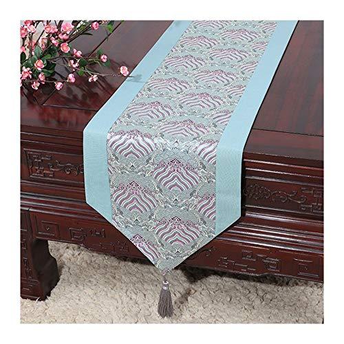 JUNYZZQ Tischläufer Tabelle Flagge Chinesischen Gartentisch Flagge Tischdecke Couchtisch Bett Bett...