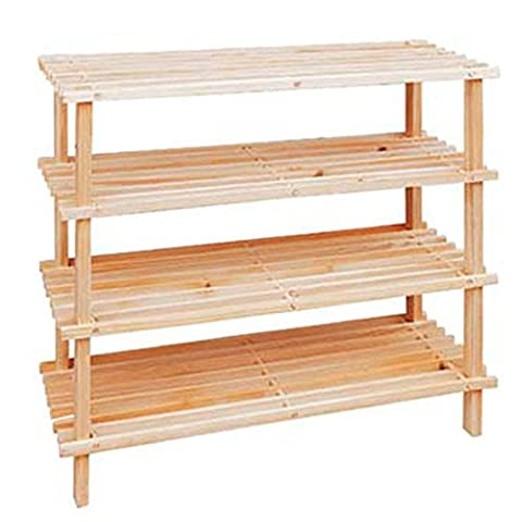 Dark and Natural 4-Tier 3-Tier 2-Tier Wooden Shoe Shelf Storage