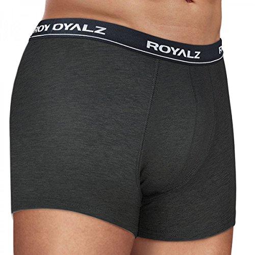 ROYALZ Unterhosen Herren Boxershorts 5er Set klassisch Nahtlos für Sport und Freizeit, 5er Pack (95% Baumwolle / 5% Elasthan) Set 011 ( 5er Pack - Mehrfarbig)